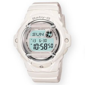 G-Shock Baby-G Color Gloss solid white watch
